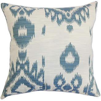 One Kings Lane Gaera 18x18 Pillow - Denim