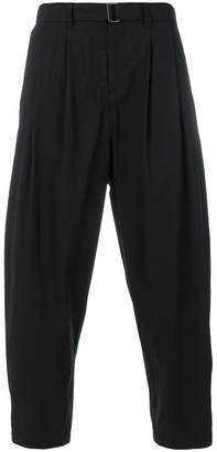 Attachment drop-crotch trousers