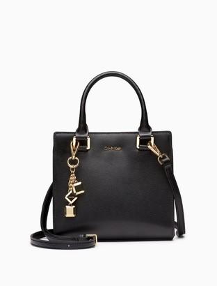 Calvin Klein Saffiano Leather Crossbody Satchel