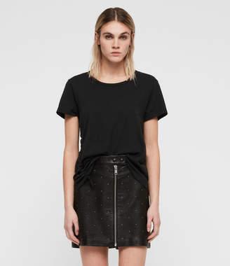AllSaints Lena Stud Leather Skirt