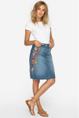 Johnny Was Christy Embroidered Skirt
