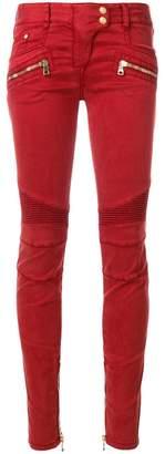Balmain low-rise biker jeans