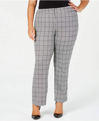 65d0e456981 Kasper Plus Size Menswear Plaid Pants