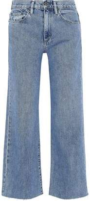 Simon Miller Marlo Cropped Mid-Rise Wide-Leg Jeans