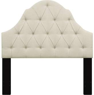 BEIGE Generic Shaped Camel Back Button Tufted Full / Queen Upholstered Headboard