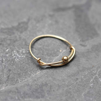 Kat&Bee Handmade Gold Ring With Detail