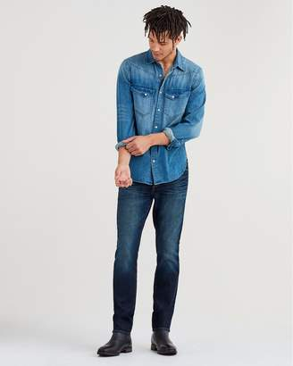 7 For All Mankind Airweft Denim Adrien Slim Tapered with Clean Pocket in Concierge