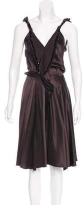 David Szeto Silk Embellished Dress