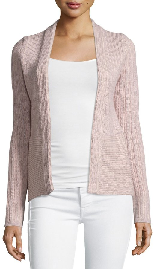 See By ChloeSee by Chloe Ribbed Open Cardigan, Rose