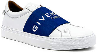Givenchy Elastic Sneakers in White & Blue | FWRD