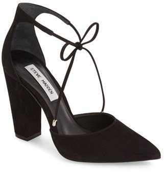 Women's Steve Madden Pamperd Lace-Up Pump $99.95 thestylecure.com