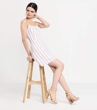 Dynamite Fit & Flare Dress BEIGE/ WHITE STRIPES