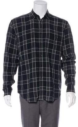 Saint Laurent Plaid Dress Shirt