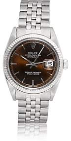 Rolex Vintage Watch Women's 1970 Oyster Perpetual Datejust Watch-Brown