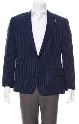 Ralph Lauren Purple Label Pinstriped Silk Blazer w/ Tags