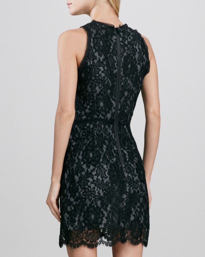Milly Claudia Ruffle-Trim Lace Dress