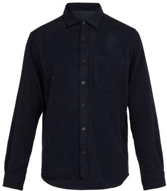 Altea Knitted Wool Blend Overshirt - Mens - Navy