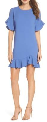Charles Henry Ruffle Detail Shift Dress