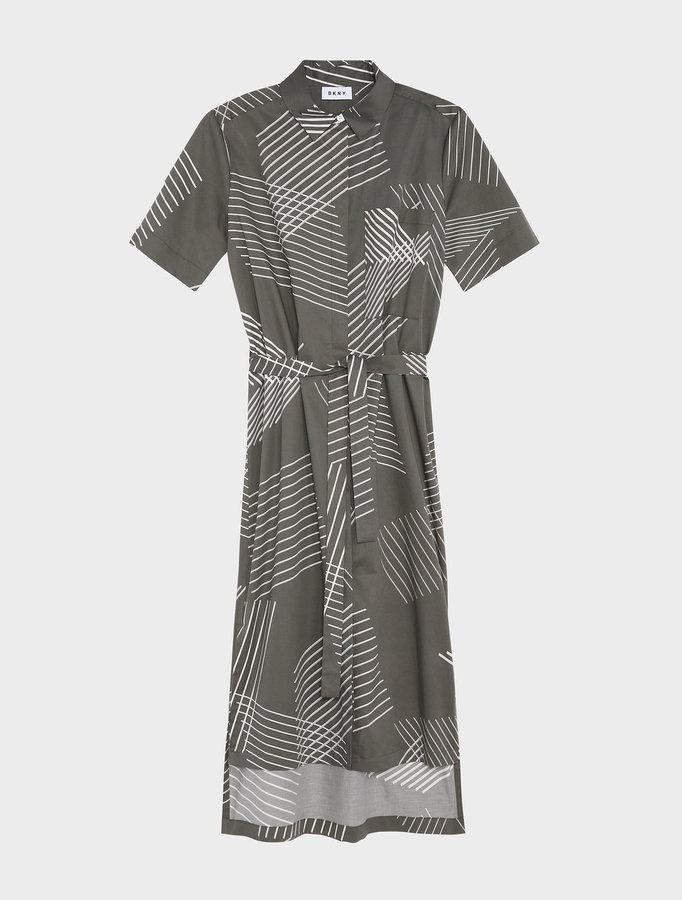 DKNYDkny Pure 3-D Pinstripe Button Through Dress