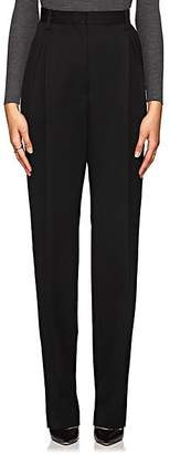The Row Women's Brina Wool-Blend High-Waist Trousers - Black