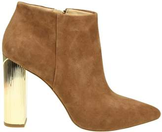 Michael Kors ankle Boot Paloma In Suede Color Camel