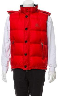 Burberry Fur-Trimmed Down Vest