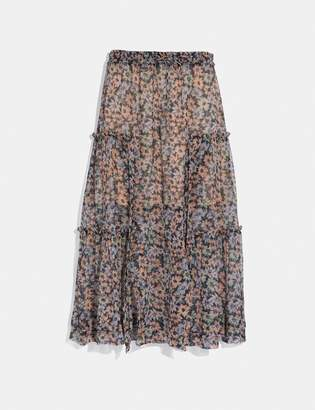 Coach Long Skirt With Front Slits