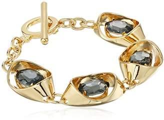 "Trina Turk Psychadelica"" Adjacent Open Link with Stone Flex Strand Bracelet"