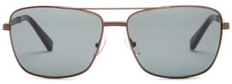 Ermenegildo Zegna Women's Metal Aviator Sunglasses $305 thestylecure.com