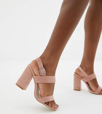 1da1657ac618 Shania Raid Wide Fit RAID Wide Fit blush block heeled sandals