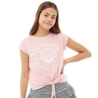 Board Angels Girls Slub Tie Top Pink