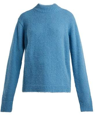 Tibi Cozette Wool Blend Sweater - Womens - Blue