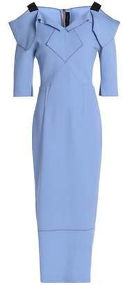 Roland Mouret Westwick Cold-Shoulder Wool-Crepe Midi Dress