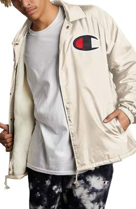 Champion Faux Shearling Lined Coach's Jacket