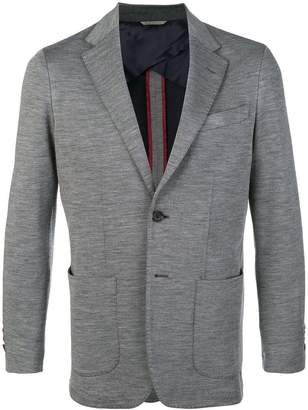 Canali fitted blazer jacket