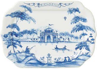 Country Estate Serving Tray - White/Blue - Juliska