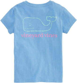 Vineyard Vines Girls Garment-Dyed Two-Tone Vintage Whale Tee