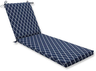 PILLOW PERFECT Pillow Perfect Outdoor / Indoor Garden Gate Navy Chaise Lounge Cushion 80x23x3