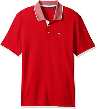 Perry Ellis Men's Pique Logo Polo Shirt