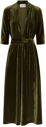 Luisa Beccaria Velvet Wrap Dress