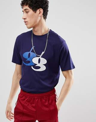 Gio-Goi T-Shirt With Flocked Logo In Navy