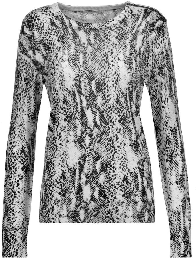 EquipmentEquipment Ondine snake-print silk and cashmere-blend sweater