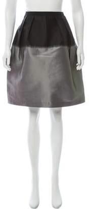 Behnaz Sarafpour Two-Tone Mini Skirt