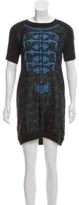 Louis Vuitton Silk & Wool Blend Printed Dress