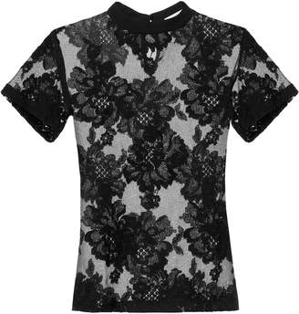Fleur Du Mal Black Lace T-Shirt