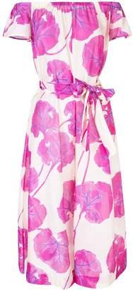 Diane von Furstenberg off-shoulder floral jumpsuit
