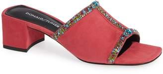 Donald J Pliner Bete Crystal Embellished Slide Sandal
