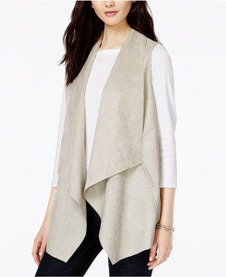 Bar Iii Faux-Leather Flyaway Vest, Created for Macy's $89.50 thestylecure.com