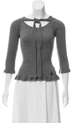 Christian Dior Wool Long Sleeve Top