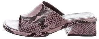Dries Van Noten Embossed Leather Slide Sandals